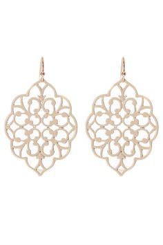 ALEXA Gold Tone Filigree Earrings Shop Simply Me Boutique – Simply Me Boutique