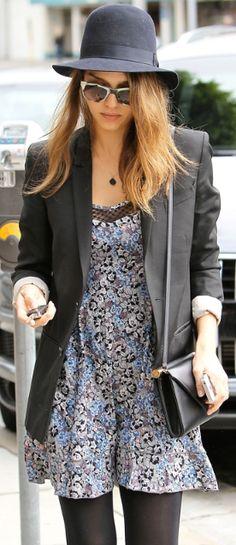 Who made Jessica Alba's floral dress?