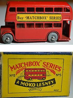 Matchbox Lesney Moko 5a London Bus - Buy Matchbox Series Decals + Original Box - http://www.matchbox-lesney.com/48185