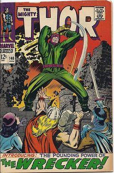 SILVER AGE 1968 MIGHTY THOR #148 MARVEL COMICS THE WRECKER / ORIGIN of BLACK BOLT