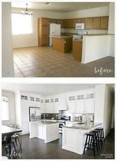 Extending kitchen cabinets to the ceiling.                                                                                                                                                                                 More