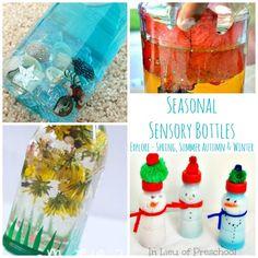 Seasonal Sensory Bottles for Babies and kids