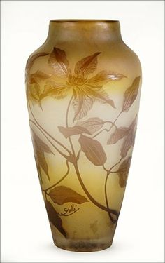 E.GALLE ___A Cameo Glass Vase :