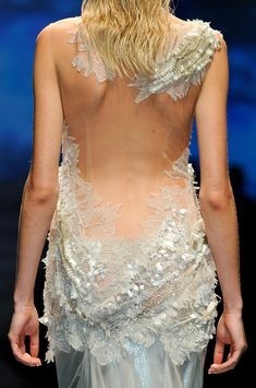 Alberta Ferretti Spring 2013--Gorgeous wedding dress for the woman with a perfect back