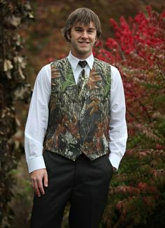 camo tux vest classy understated but with different tie