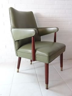 Green Mid Century Modern Arm Chair by HauteMaude on Etsy, $325.00