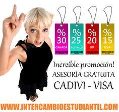 #Asesoria #CADIVI #VISA #Venezuela #Argentina #LAtinoamérica #Estudiar #Exterior #Vaiajar #Aprender #Idiomas #GRAcademic #Colegio #Universidad  www.intercambioestudiantil.com - info@intercambioestudiantil.com