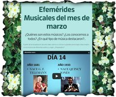 """Actividad musical """"Efemérides musicales del mes de marzo"""" Ideas, March Month, Music Activities, Music Class, Libros, Thoughts"""