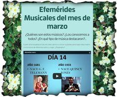 """Actividad musical """"Efemérides musicales del mes de marzo"""""""