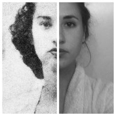 A woman and her grandmother both at age 20/ beautiful similarity