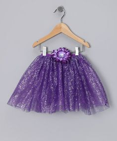 Purple Glitter Daisy Tutu - Toddler & Girls by Just For Girls on #zulily