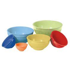colorful mixing bowls!