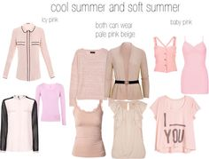 """cool and soft summer pinks"" by expressingyourtruth on Polyvore"