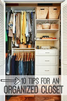 Do you need some tips for an organized closet? We've found lots of ideas to maximize your space and minimize the clutter.