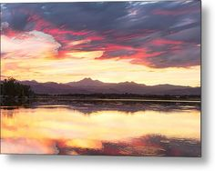 Colorful #Colorado Rocky Mountain Sky Reflections Timed Stack Metal #WalArt Print By James Bo  Insogna - #Art #insognaGallery