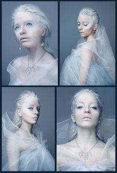 FULL VIEW Model: Raluca Porumbacu *roxaralu Hair, make-up: *JustMeOnyX & *roxaralu Editing: *roxaralu Wardrobe: Me, *JustMeOnyX & *roxaralu Ligh. Queen of Ice - Collage Ice Makeup, Ice Queen Makeup, Makeup Art, Ice Princess Makeup, Princess Theme, Fairy Makeup, Mermaid Makeup, Costume Halloween, Halloween Make Up
