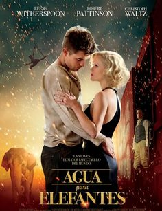 WATER FOR ELEPHANTS Movie Trailer. Robert Pattinson, Reese Witherspoon, and Christoph Waltz star in the film adaptation of Water for Elephants. Robert Pattinson, Love Movie, Movie Tv, Movies Showing, Movies And Tv Shows, Elephant Poster, Kino Box, Peliculas Audio Latino Online, Water For Elephants