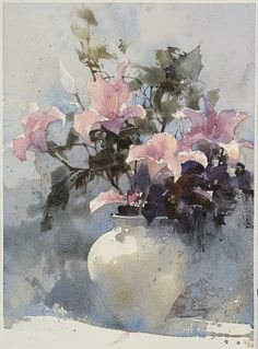Watercolour by Chien Chung Wei,36X27 cm ,Demo