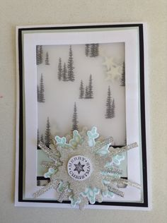 Stampin up Christmas card winter wonderland vellum