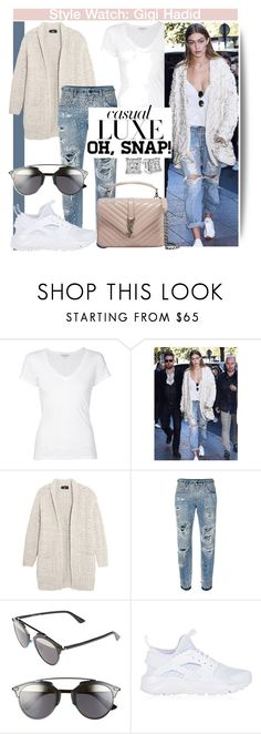 """""""Oh Snap..."""" by nfabjoy ❤ liked on Polyvore featuring James Perse, Jonathan Simkhai, Line, Dolce&Gabbana, Christian Dior, NIKE, Yves Saint Laurent and gigihadid"""