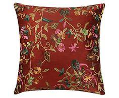 Capa de Amofada Flowers Vermelha - 45X45cm