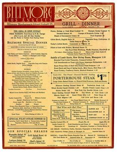 A division of UnderConsideration, cataloguing the underrated creativity of menus from around the world. Vintage Restaurant, Menu Restaurant, Hotel Menu, Restaurant Identity, Vintage Menu, Vintage Ads, Retro Recipes, Vintage Recipes, Diner Menu