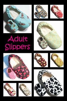 Adult and infant slippers