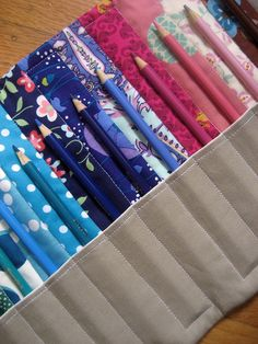 colored pencil roll by arajane, via Flickr
