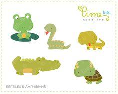 Reptiles Clip Art by LimeBitsCreative on Etsy, $4.00