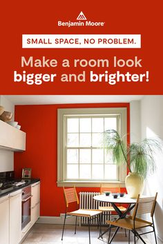 From favorite paint colors to specialized design advice, Benjamin Moore's color and design experts have the answers to a common homeowner question: How do I make a small room look bigger and brighter? Off White Paints, Off White Walls, Yellow Paint Colors, Yellow Painting, Paint Colors For Living Room, Room Paint, Small Rooms, Small Spaces, Accent Wall Colors