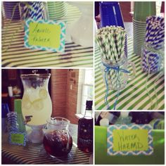 Golf theme baby shower watering hole and Arnold Palmer drink station