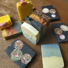 End pieces of my soaps! East Wood, Chocolate Powder, Rose Essential Oil, Sensitive Skin Care, Vegan Soap, Organic Soap, Baby Carrots, Palm Oil, Sweet Almond Oil