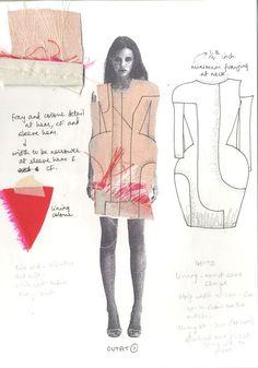 Design development by Shweta Kapur Sketchbook Layout, Textiles Sketchbook, Fashion Sketchbook, Sketchbook Ideas, Sketchbook Inspiration, Fashion Illustration Sketches, Fashion Sketches, Fashion Drawings, Fashion Portfolio