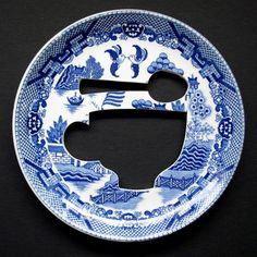 China plate cut out, trying from dremel and water cut.