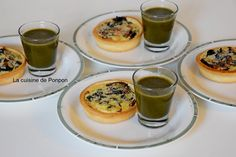 Tartelette de fanes de betterave rouge et soupe aux orties, végétarien