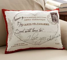 Love Postcard Pillow