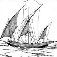 Lateen Sails clip art