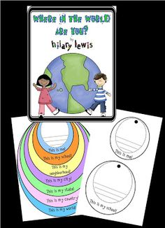 For our kiddos to see just where they fit into the world! FREE from Hilary Lewis.  I do this with my kinders in the 4th quarter.  repinned by Charlotte's Clips http://pinterest.com/kindkids/social-studies-charlotte-s-clips/ Social Studies Activities, Classroom Activities, Kindergarten Social Studies, Teaching Social Studies, Science Classroom, Educational Activities, Classroom Freebies, Teaching Aids, Kindergarten Science, Geography Activities, Astronomy, Socialism, Childhood Education
