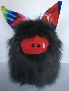 Cute Plush Monster  OOAK Hand Stitched Soft by ItsHandmadeByAndrea