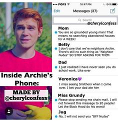 Inside Archie's phone