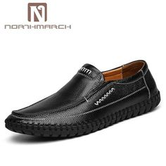 d7c3b5ea25fc8 NORTHMARCH Man Shoes Leather Genuine Big Size Men Shoes Handmade Breathable  Men Flat Shoes Mocassins Men