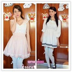 "Pink or White?  search "" sailor dress "" you will find a lot options for you!  Model by @Ronrolove <3   #sailordress #spreeicky #romatic #kawaiidress"