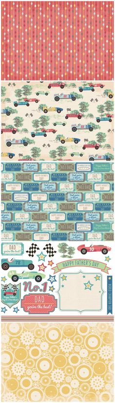 Add some nostalgic style to your Father's Day cards with these Vintage Racing free printable papers from Papercraft Inspirations 153!