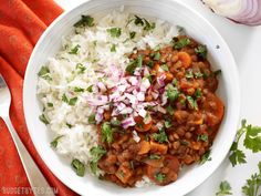 Slow Cooker Coconut Curry Lentils are a hands-off, fiber filled, freezer friendly vegan dinner. Budgetbytes.com