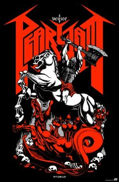 Pearl Jam - Classic rock music concert psychedelic poster ~ ☮~ღ~*~*✿⊱  レ o √ 乇 !! ~