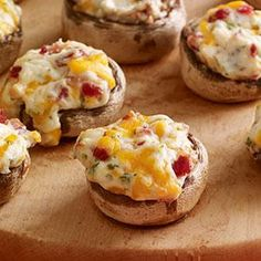 Cheese 'n Bacon Stuffed Mushrooms Recipe from our friends at Philadelphia Cream Cheese