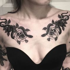 Artist Jack Ankersen creates Artist Series coffee set – Death Wish Coffee Company Chest Tattoo Female Upper, Chest Tattoos For Women, Chest Piece Tattoos, Pieces Tattoo, Body Art Tattoos, Girl Tattoos, Sleeve Tattoos, Eagle Tattoos, Medusa Tattoo