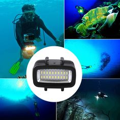 Protable 30M Waterproof Super Bright Underwater LED Video Light Action Camera Diving Lamp Suitable For GOPRO. Click visit to buy #Photographic #Lighting #PhotographicLighting