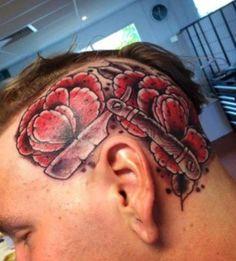 Head Tattoos, Skull, Skulls, Sugar Skull