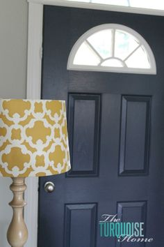 I painted our front door Benjamin Moore Stratton Blue Love it